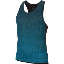 Nike Run Division Pinnacle Tank Black/Chlorine Blue