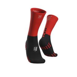 Compressport Mid Compression Socks Black/Red