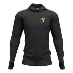 Compressport 3D Thermo Seamless Hoodie Black Edition