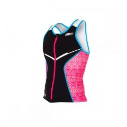 ZeroD Racer Top Woman Black/Pink/Atoll