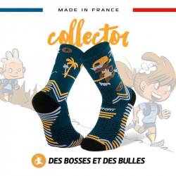 "BV Sport Chaussette Trail Collector ""DBDB"" Perso Bleu"